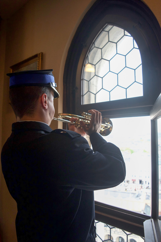 Trumpet player Krakow Poland