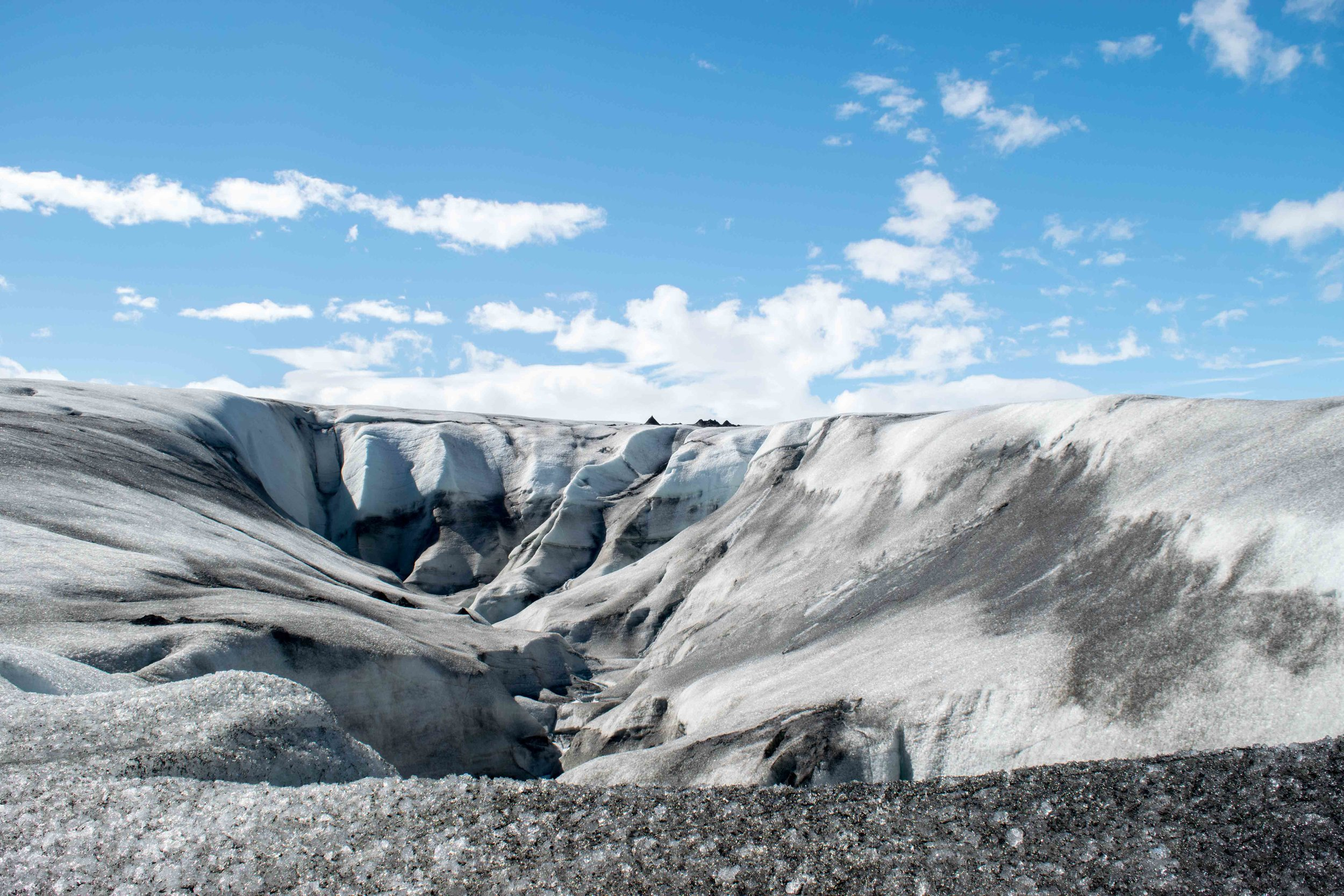 You shouldn't miss walking on a glacier while in Iceland.