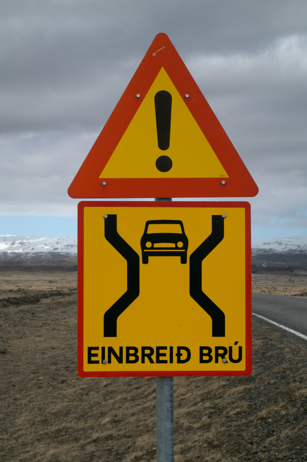 Road signs you will see in Iceland.