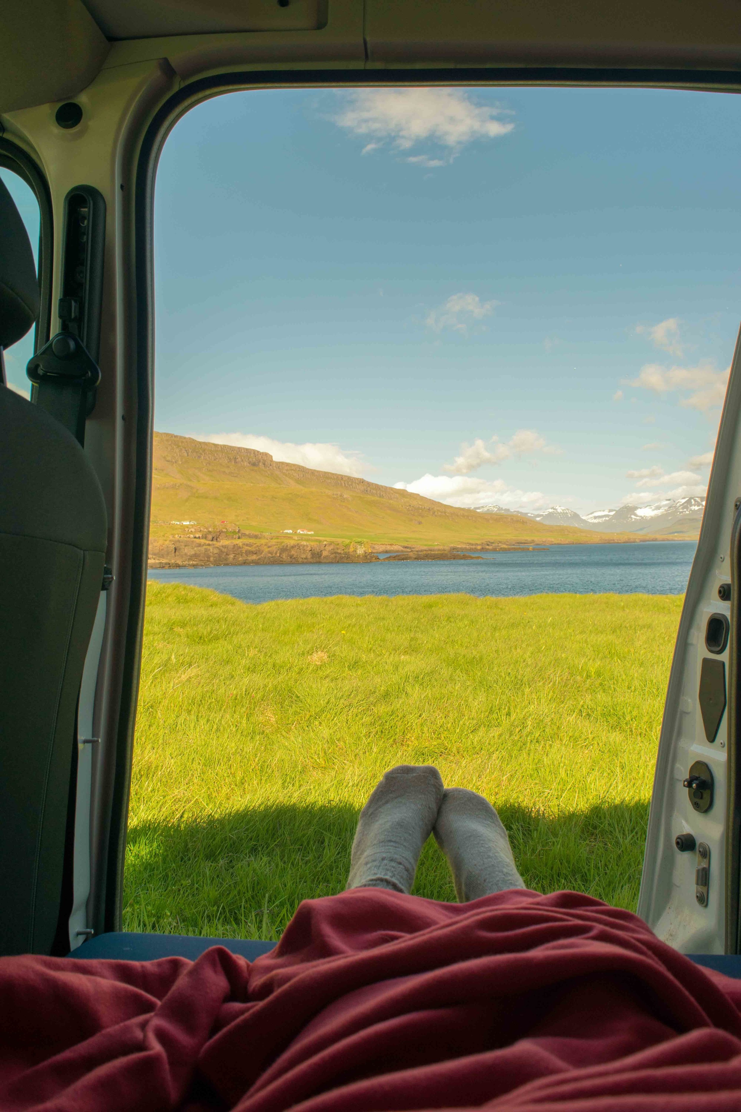 The views in Iceland from a camper van are unbelievable.