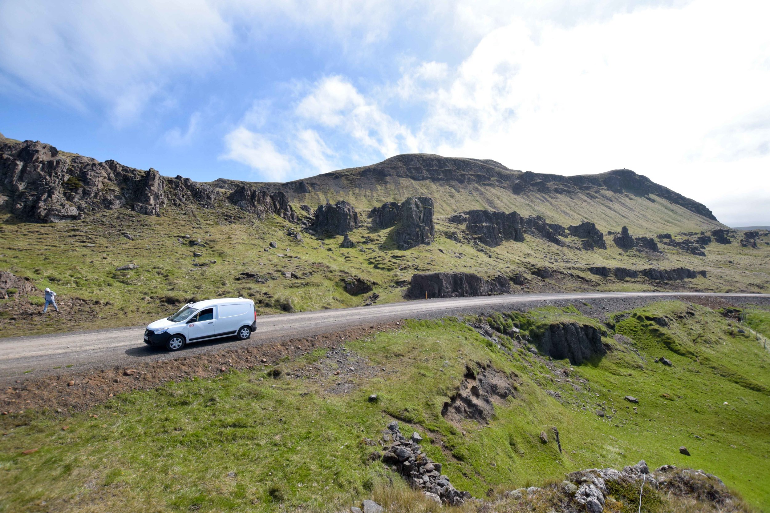 You can see so much more if you rent a van while traveling in Iceland.