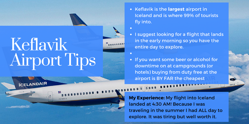 Some tips for Iceland Airport.