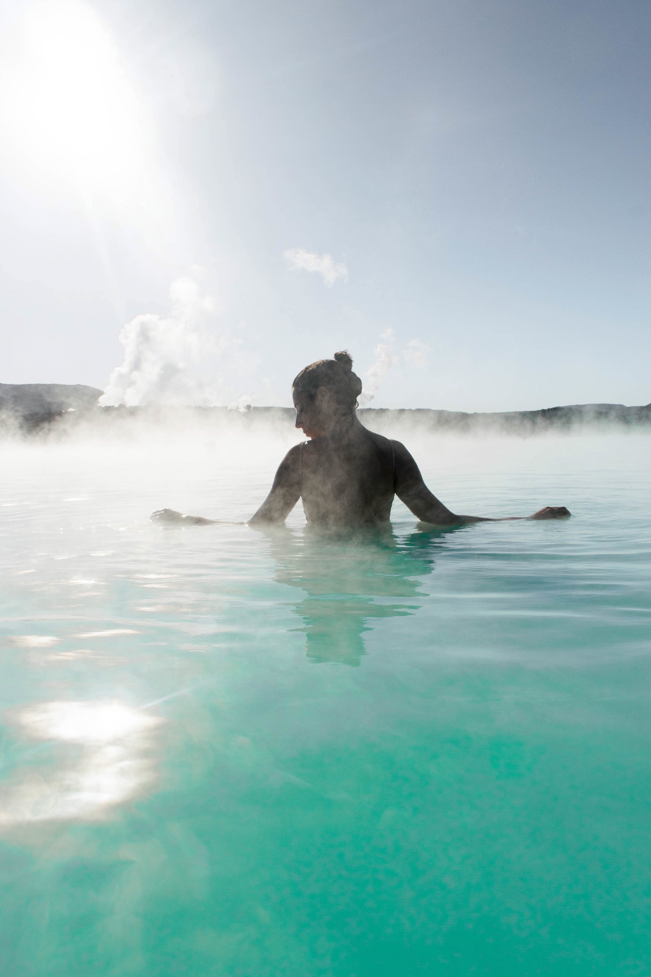 The blue lagoon is one of the best experiences in Iceland.
