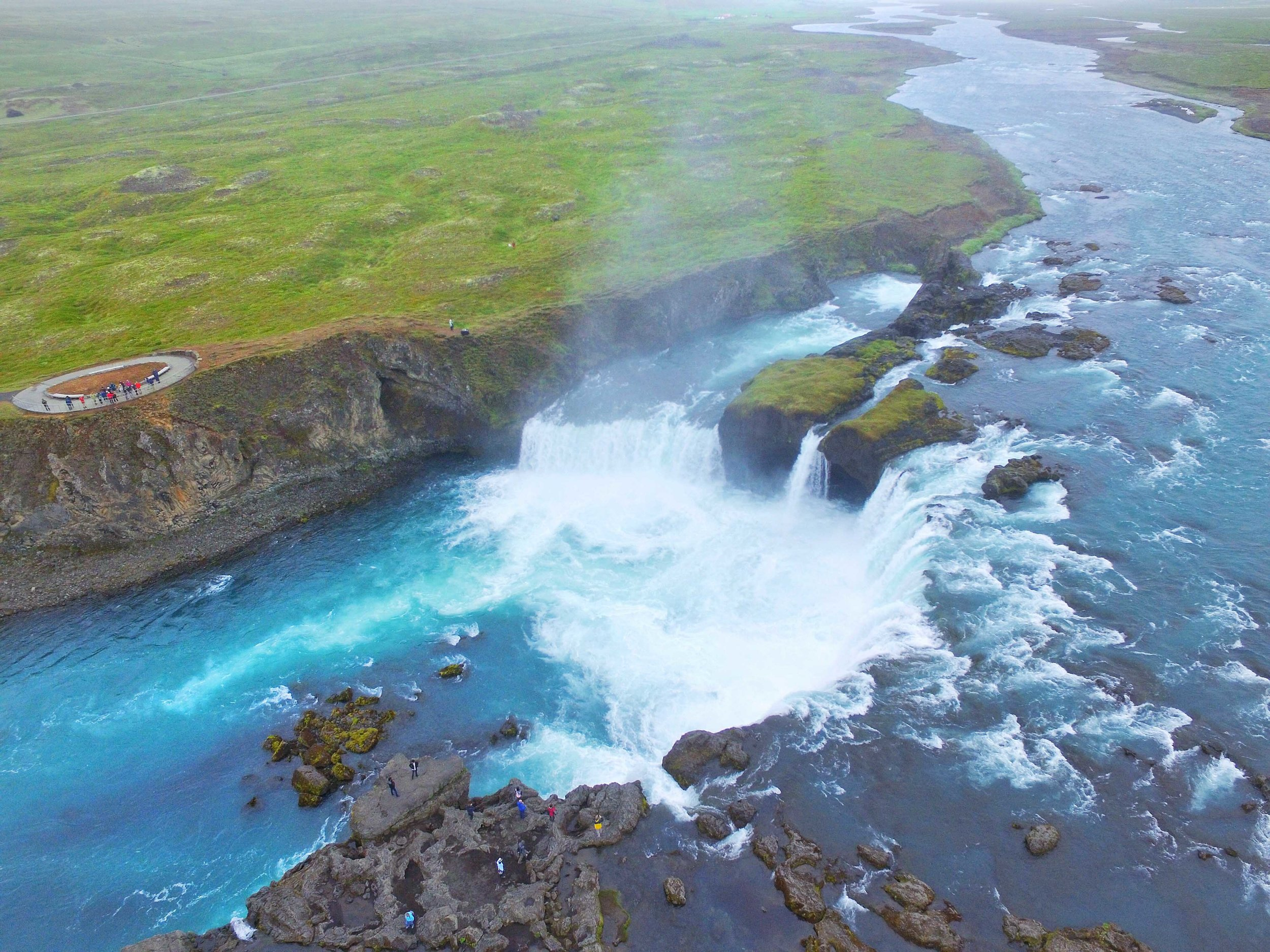 One of the best waterfalls in Iceland is Godafoss.