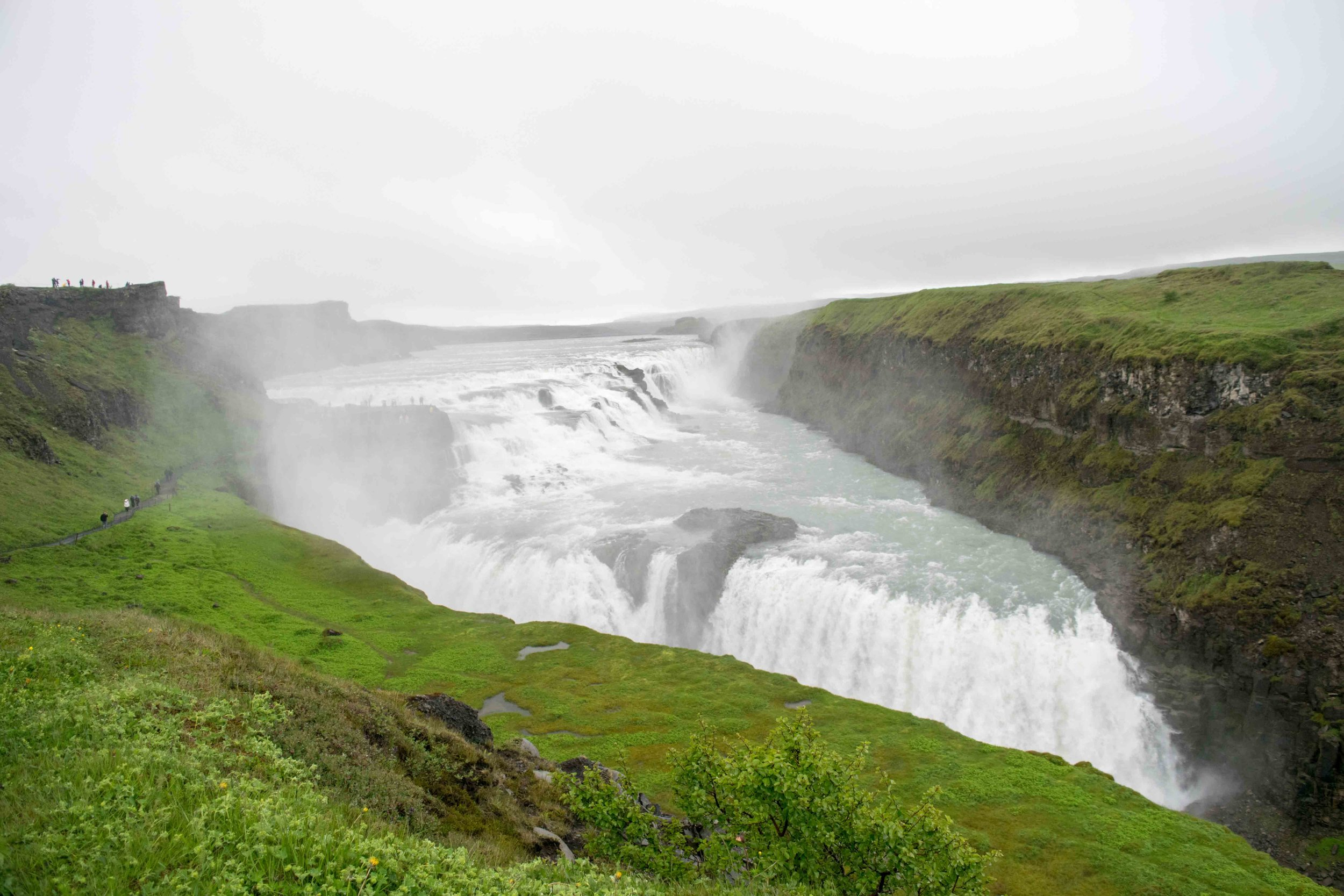 Best things to do in Iceland is visit gorgeous waterfalls like Gullfoss