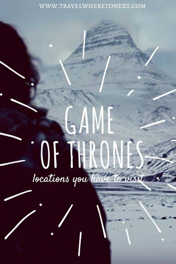 Want to spend some time in the real Game of Throne locations? Here are 4 you have to visit asap!  Tessa Juliette http://travelwheretonext.com