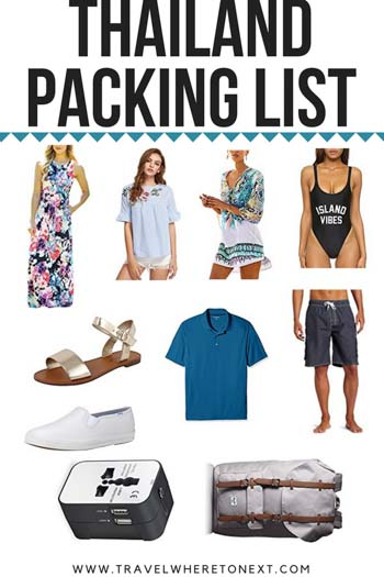 Everything you need to pack for Thailand!!! Make sure you have all the essentials. If you have any questions on what to pack, what to leave at home, or what you can buy once in Thailand then you need to read this. Pin Now - Read Later.