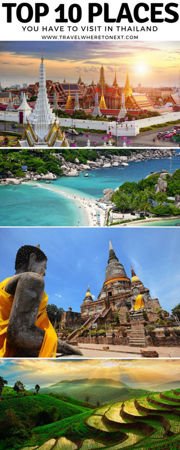 Thailand is such a beautiful country, it is really hard to narrow down exactly where to go. To start narrowing it down here are the top 10 destinations in Thailand you should add to your list.