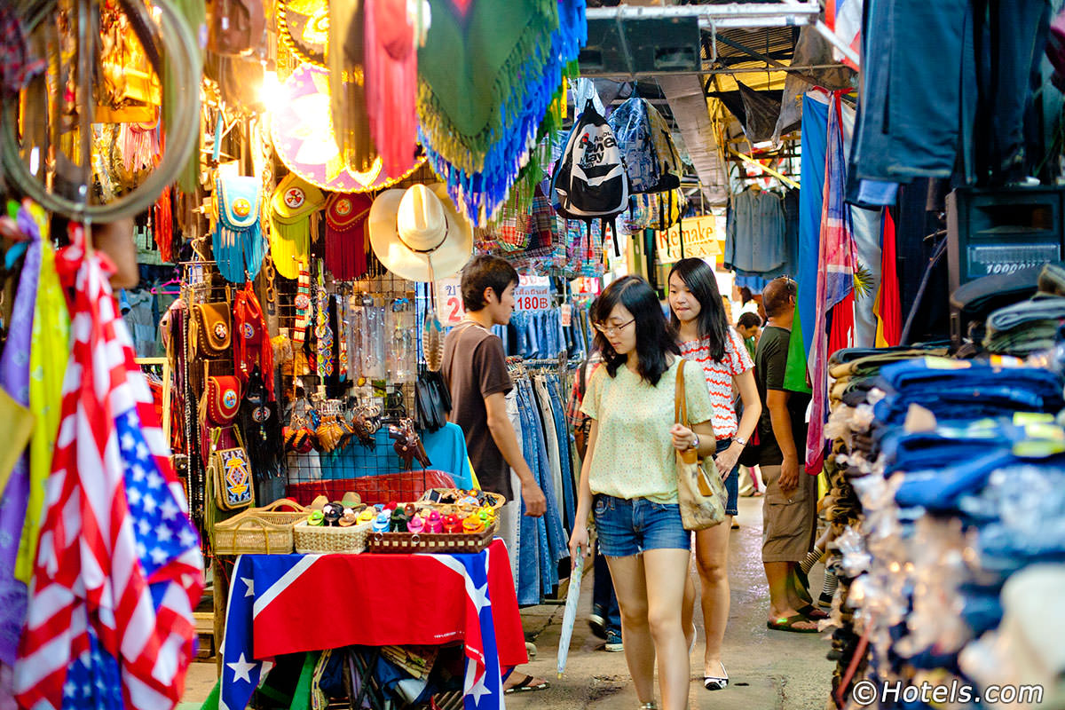 Chatuchak  weekend market is one of the best places to shop in Bangkok Thailand