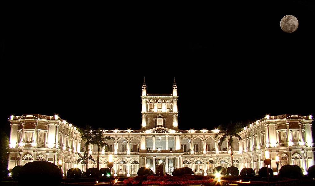 Palacio de los López - Asunción's most iconic building, a presidential palace that now serves as the seat of the government. Most beautiful at night.