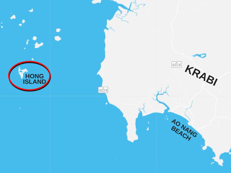 Hong island map