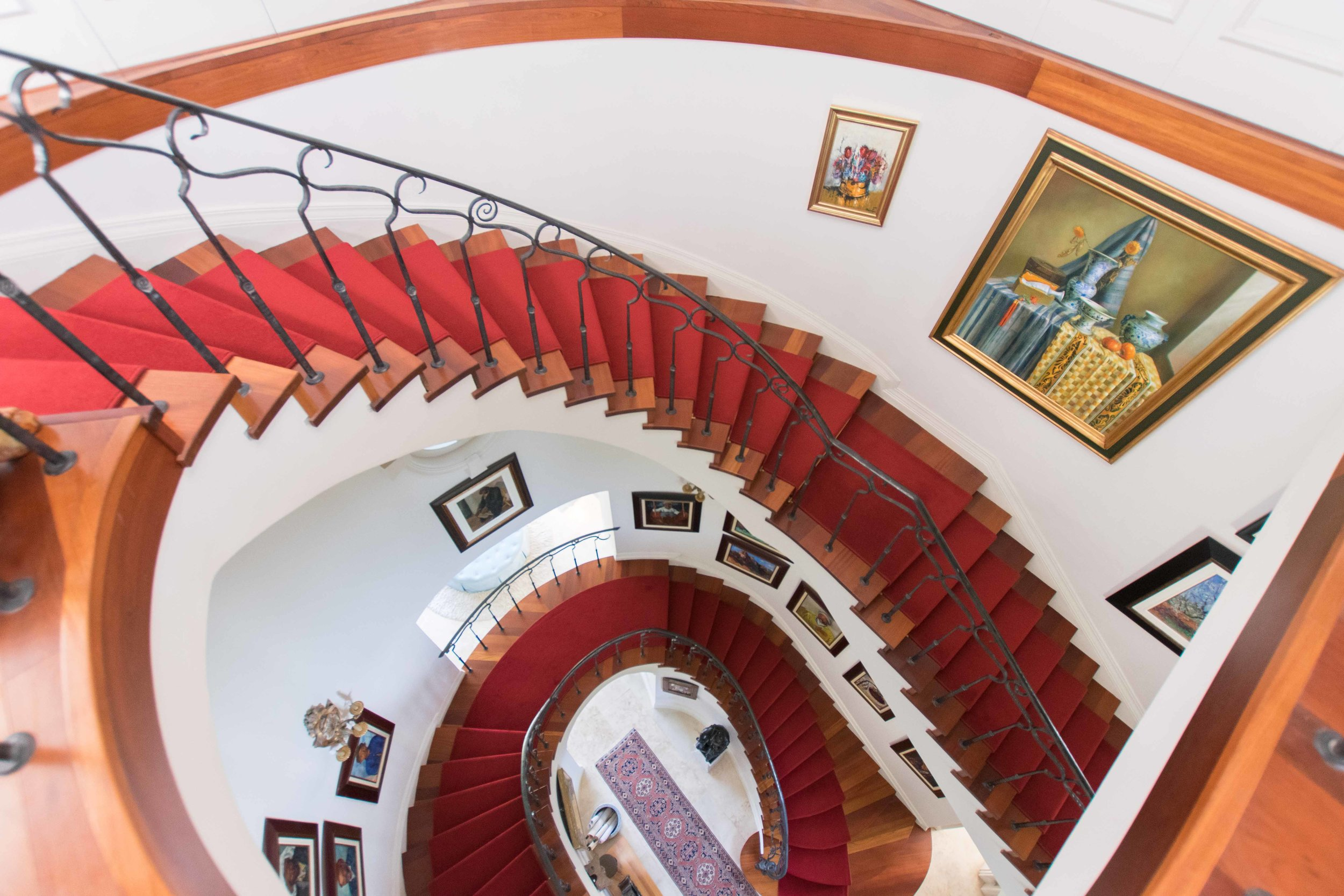 Staircase leading to rooms at 21 Nettleton