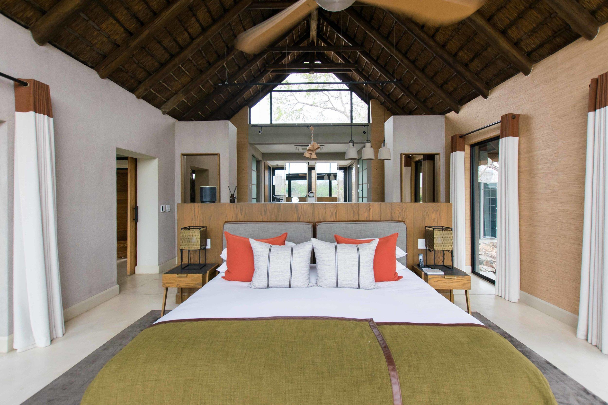 Bedrooms at Lion Sands Ivory Lodge