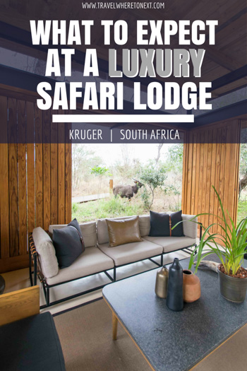 What you can expect at a luxury safari lodge in Kruger National Park South Africa.