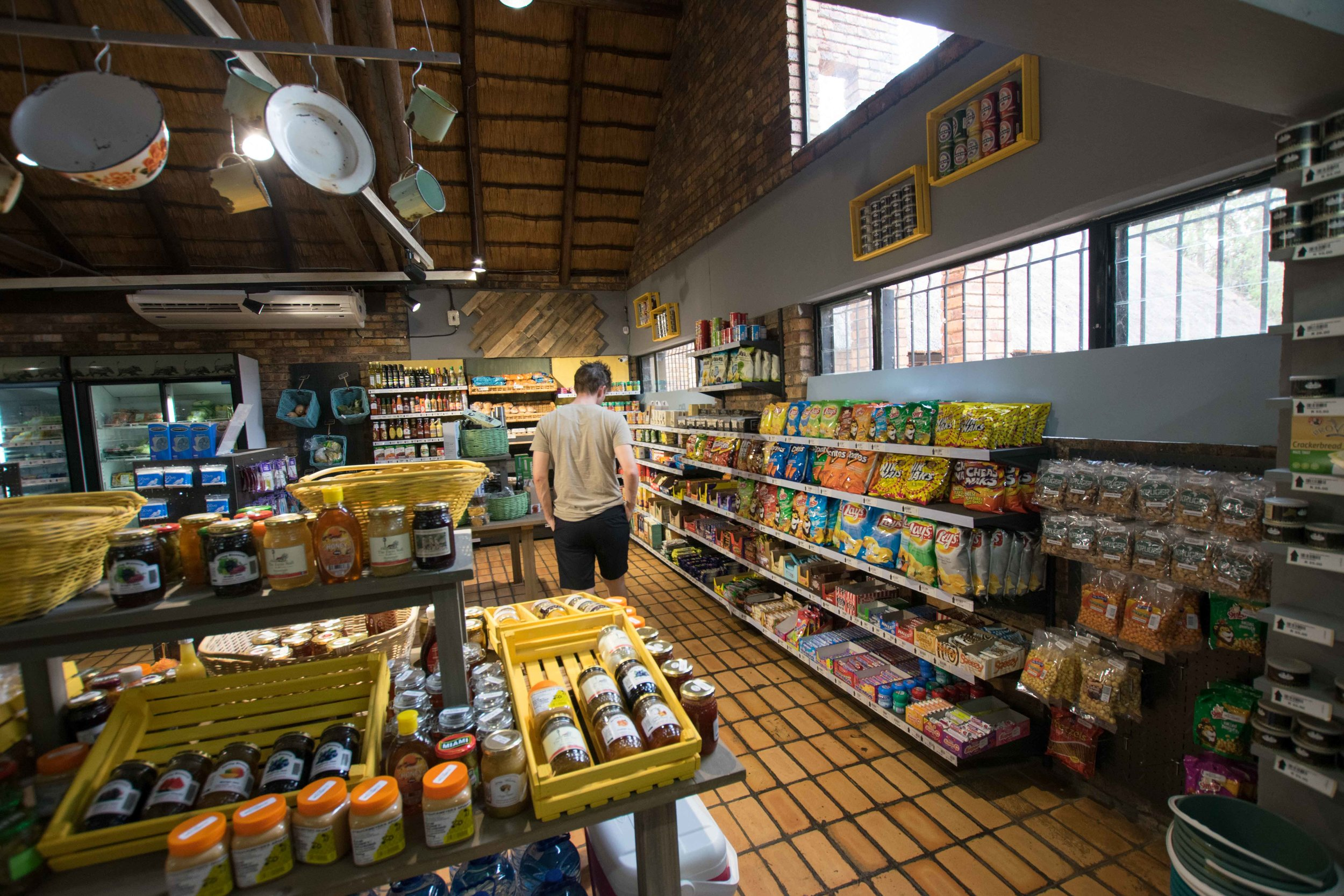 What shops inside Kruger National Park look like.