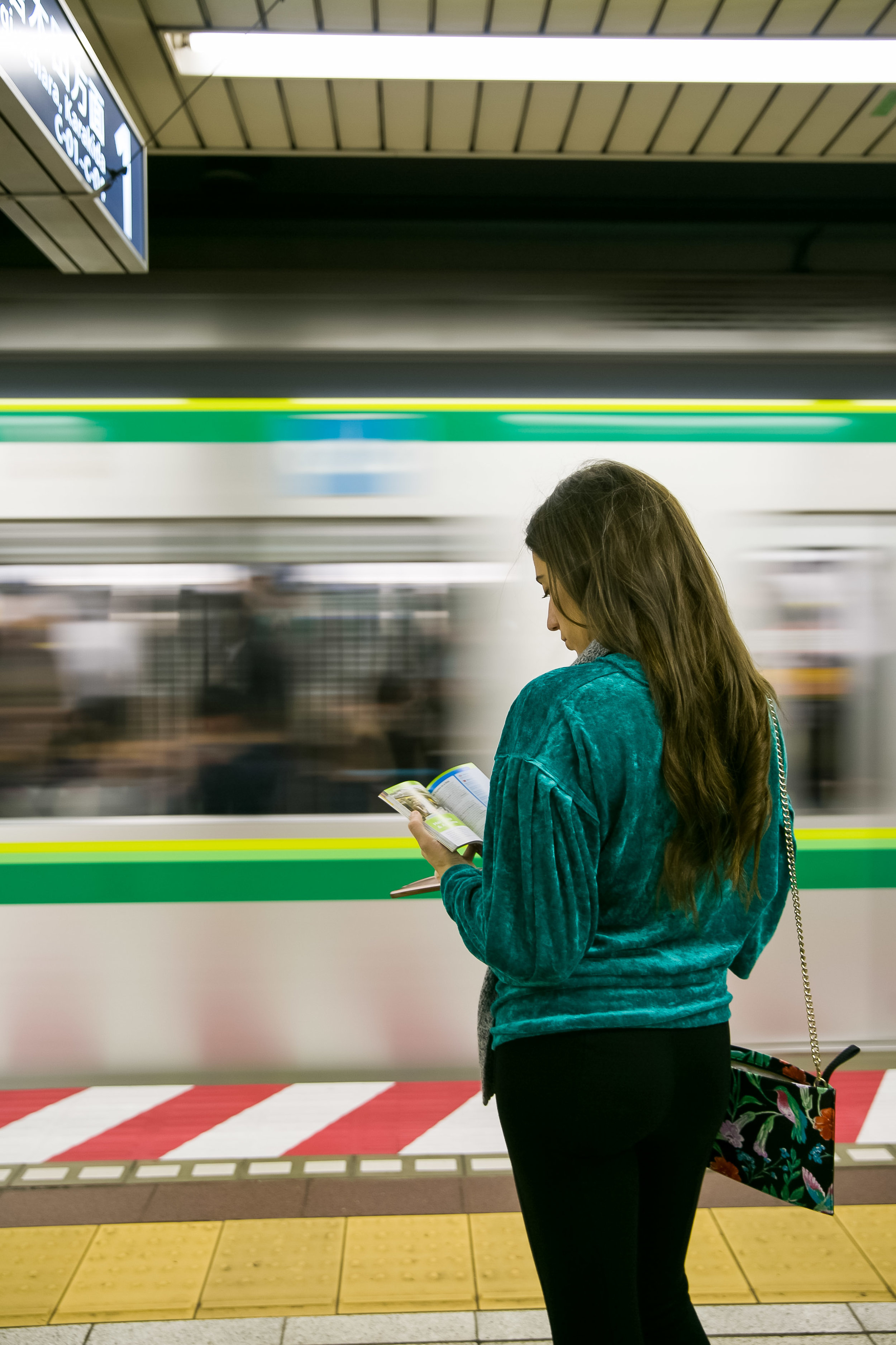 taking the subway in Tokyo Japan is very easy!