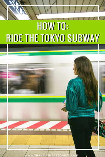 If you are heading to Tokyo, read up on the Subway before you go. It isn't that difficult! Don't worry!