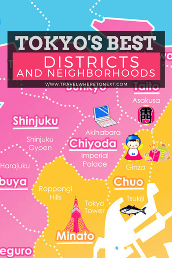 Tokyo is huge. Make sure you know all about each district before you head to Japan!