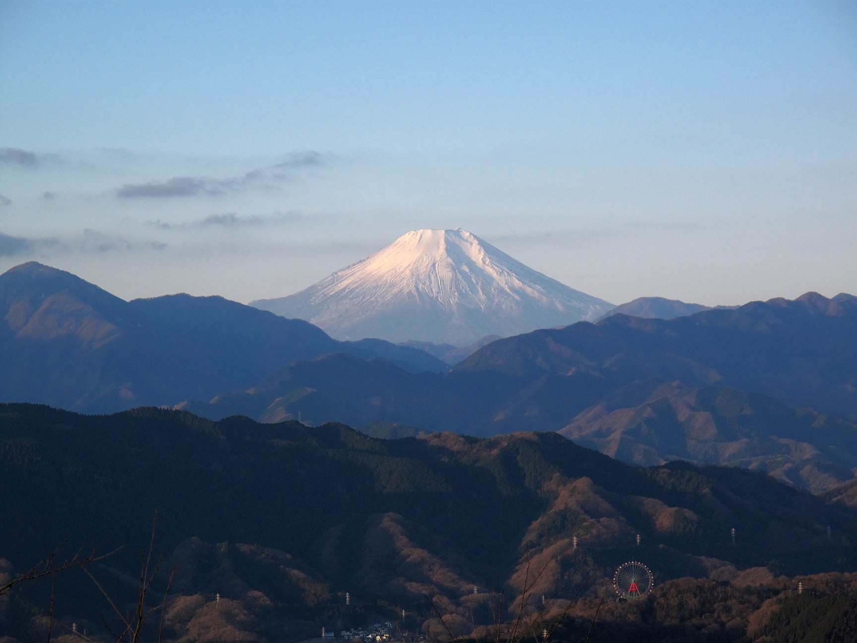Mount Fuji as seen from the Summit of Takaosan