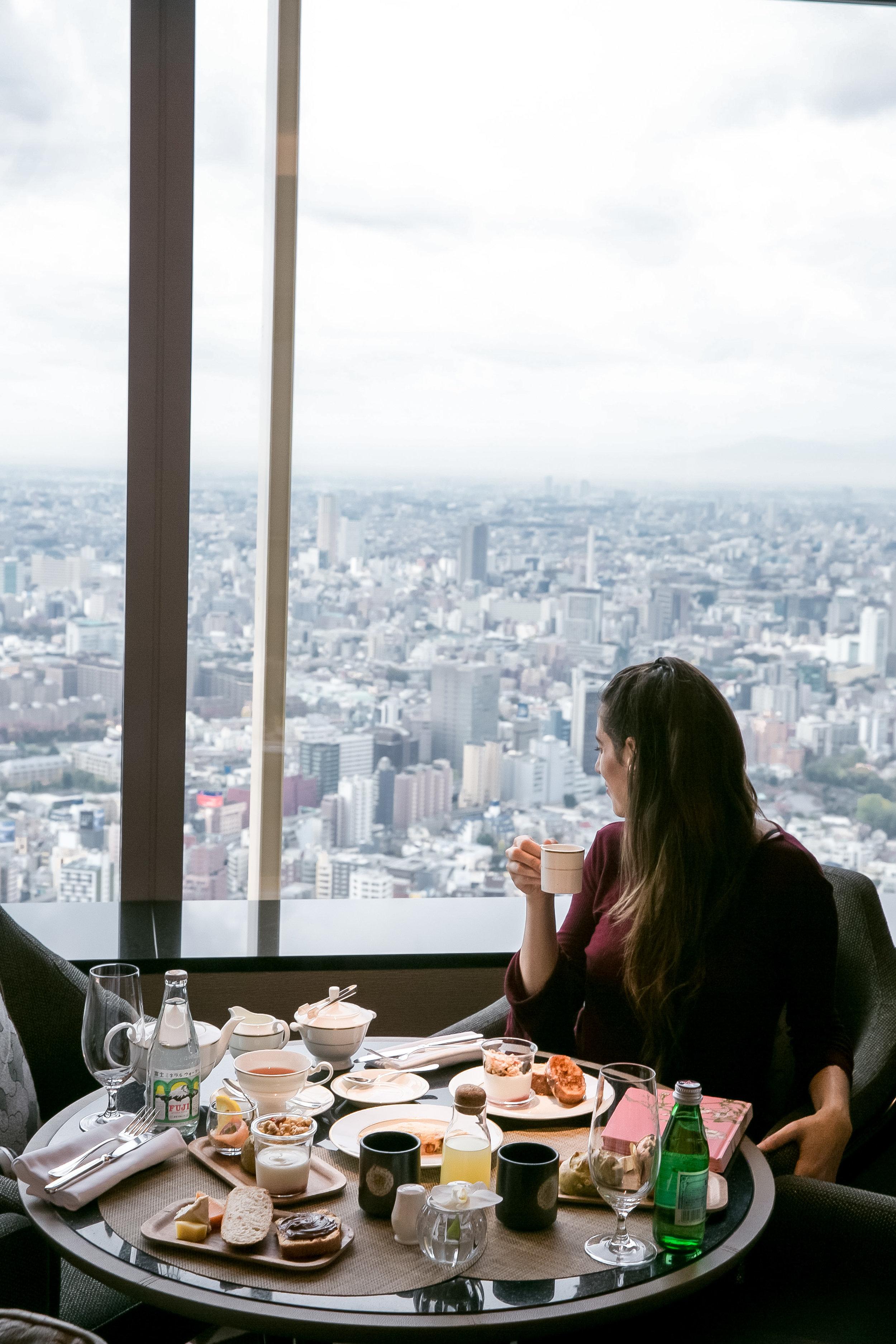 Breakfast views at The Ritz-Carlton Tokyo