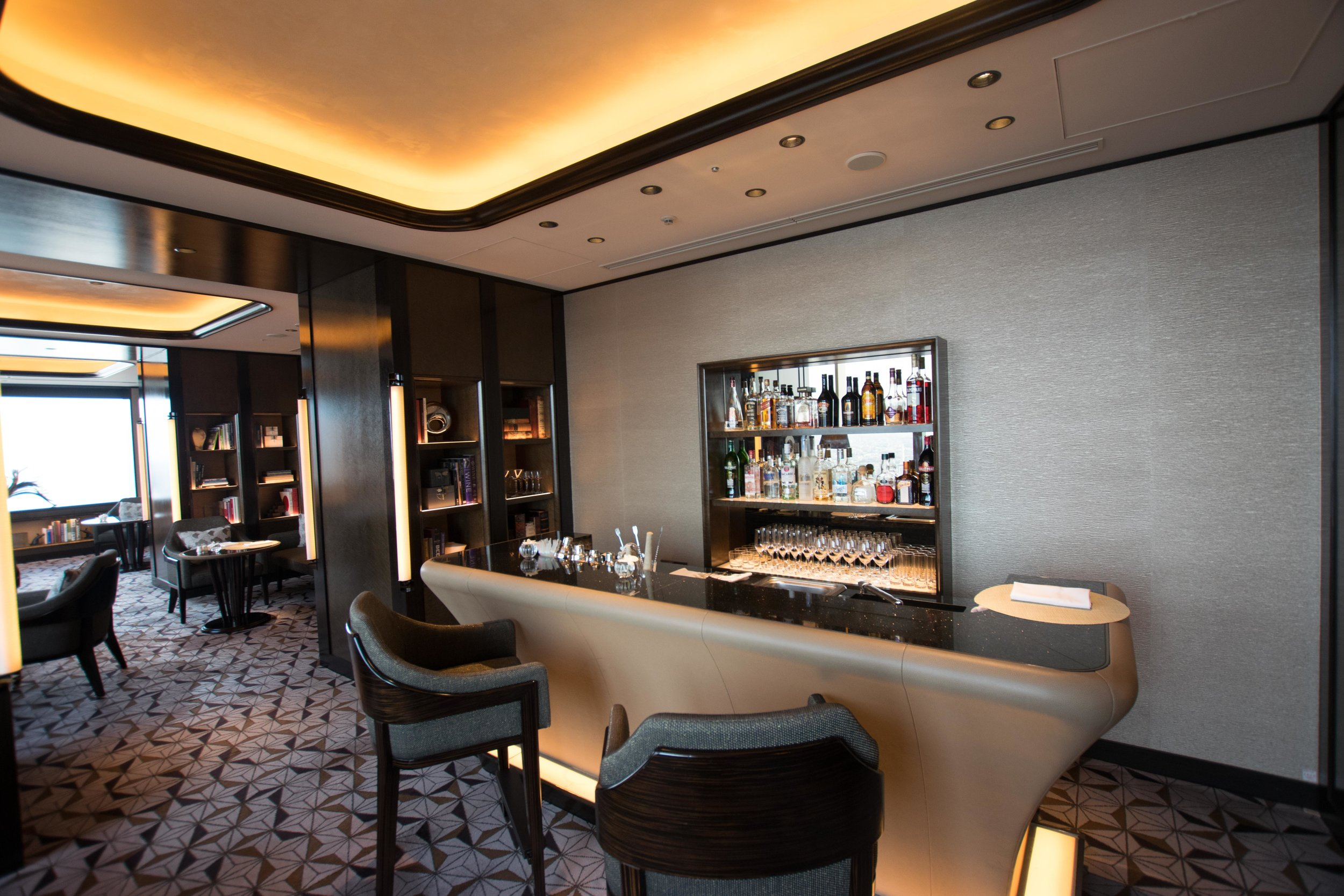 Bar in the Club Lounge at The Ritz-Carlton Tokyo