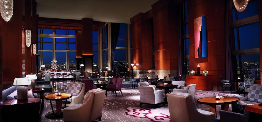 Main lobby lounge at The Ritz-Carlton Tokyo