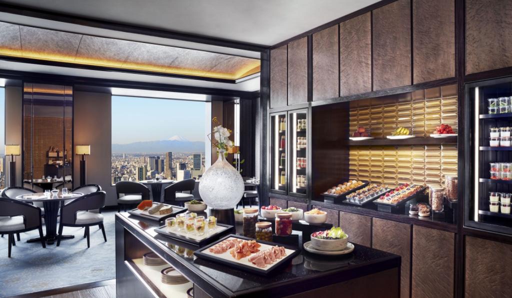 Club level lounge breakfast spread at The Ritz-Carlton Tokyo