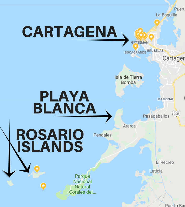 Where are the rosario islands cartagena?