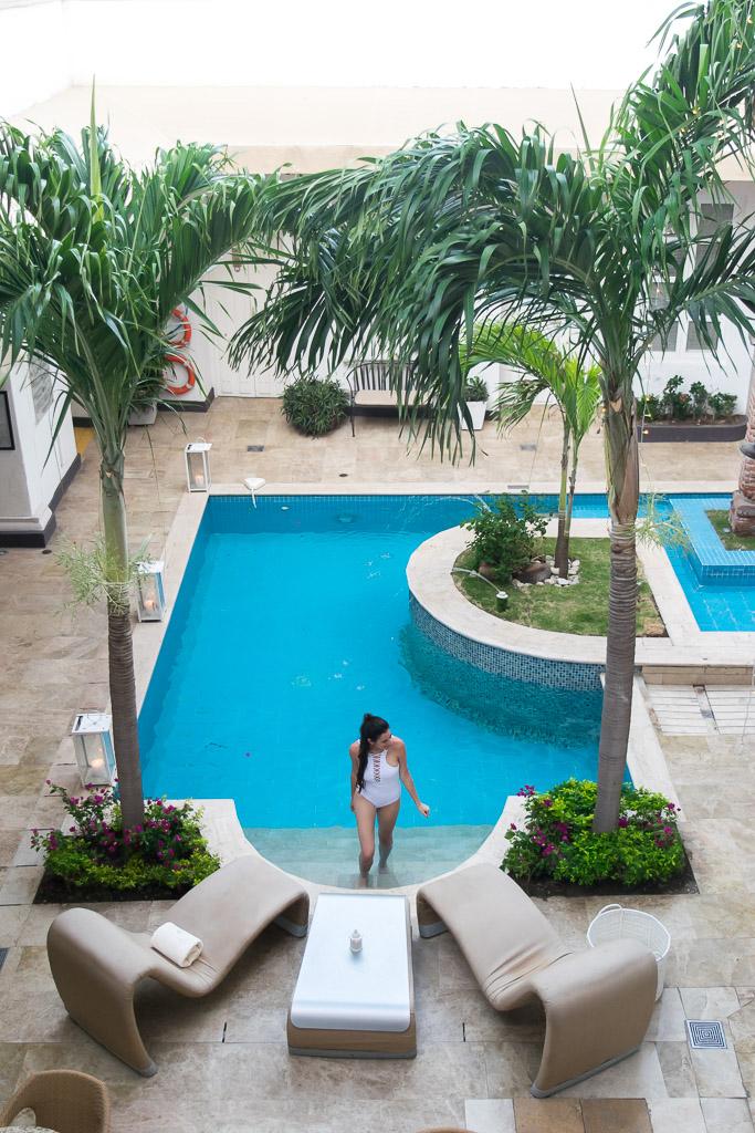 The pool at Hotel Don Pepe in Santa Marta
