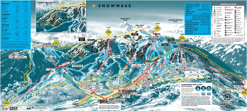 Trail Map at Snowmass - Click to enlarge