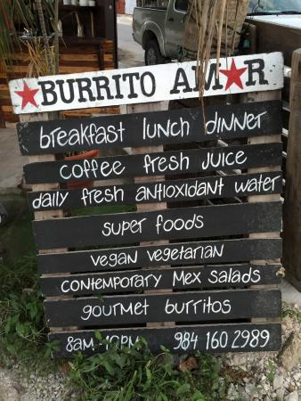 Burrito Amor in Tulum is one of the best places to eat in Tulum