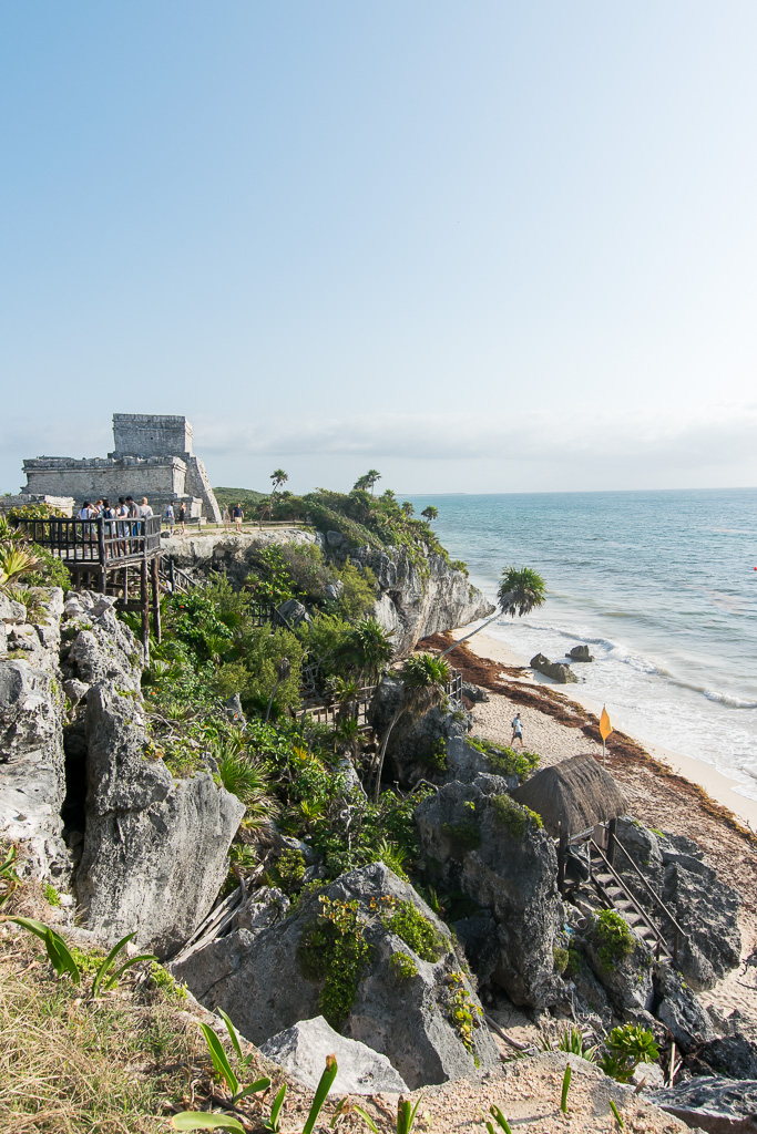Make sure you wake up early for your visit to the Tulum Ruins