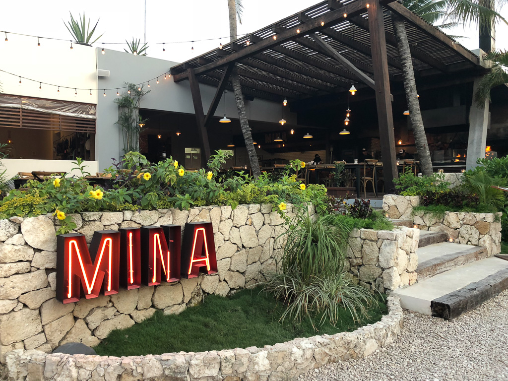 Grab lunch or dinner at Mina on Beach/Jungle Road in Tulum