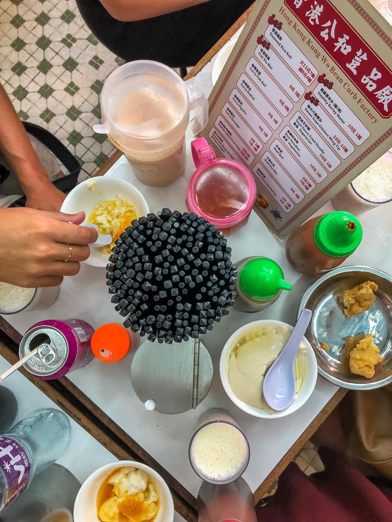 Food at Kung Woo Beancurd Factory
