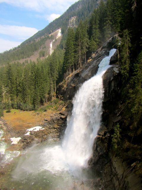 Kriml Waterfall in the Austrian Alps close to Tirol -