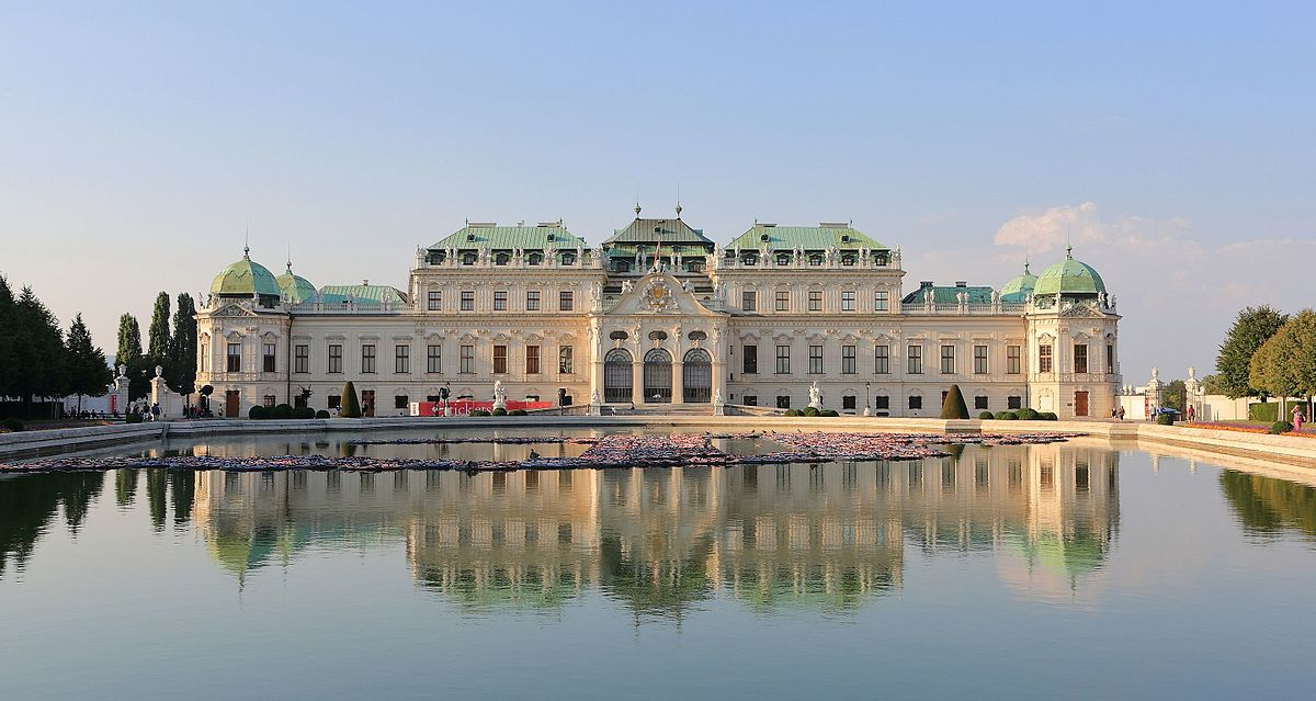 Belvedere Palace in Vienna Austria A historic Baroque complex made up of two palaces. -