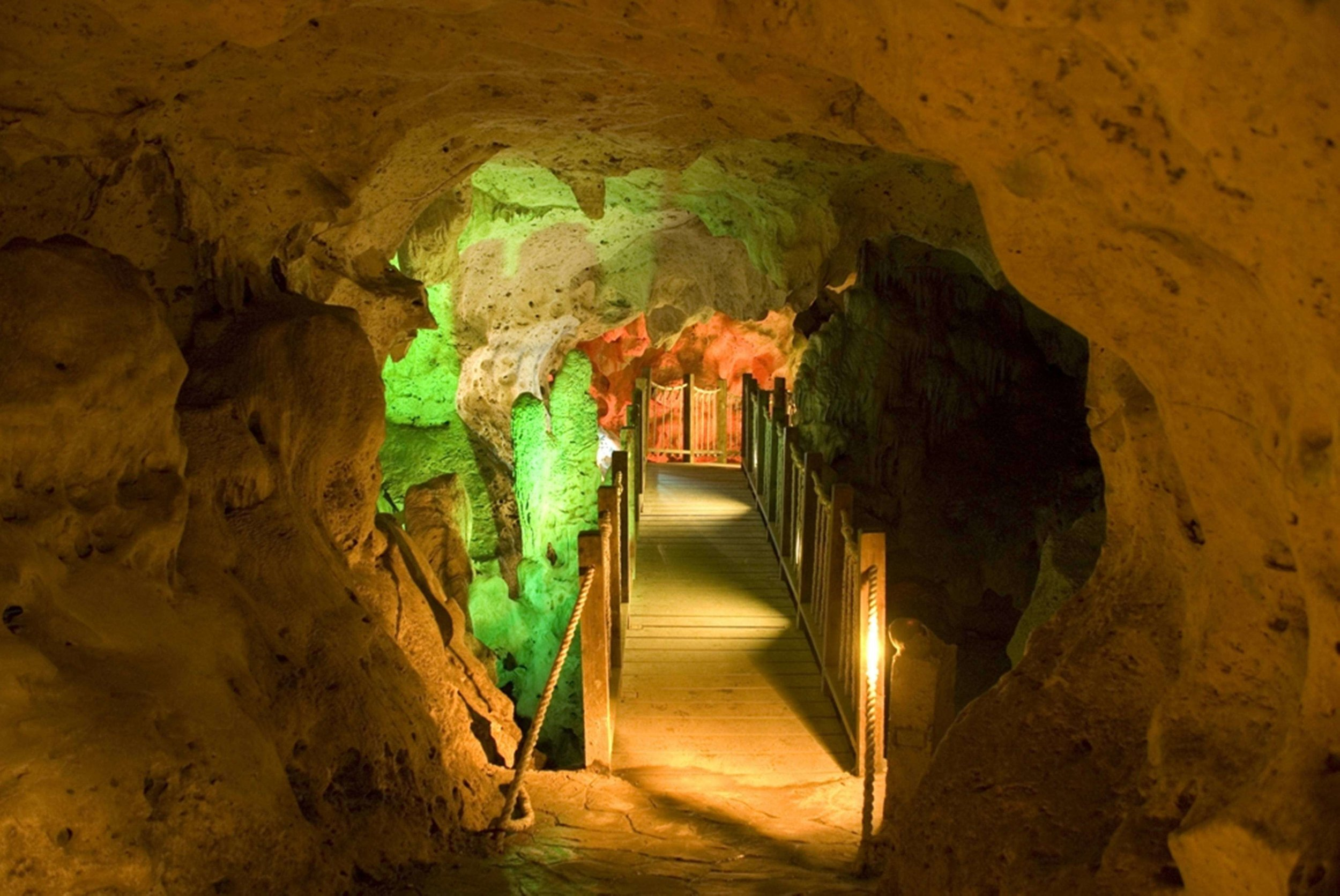 One of the best things to do in Ocho Rios is visit the green grotto caves