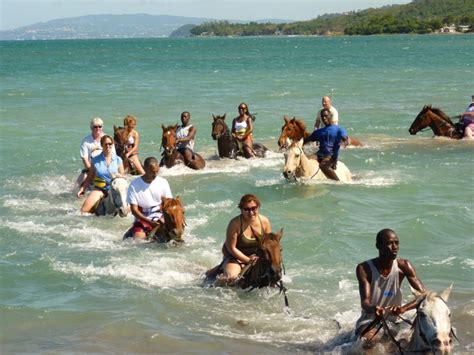 One of the best activities to do in Jamaica is ride on horseback in the ocean