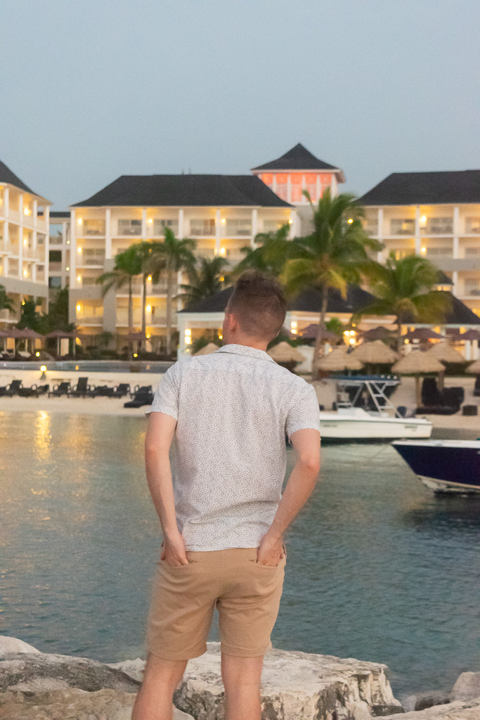 Hotel Views from the beach at Secrets in Montego Bay