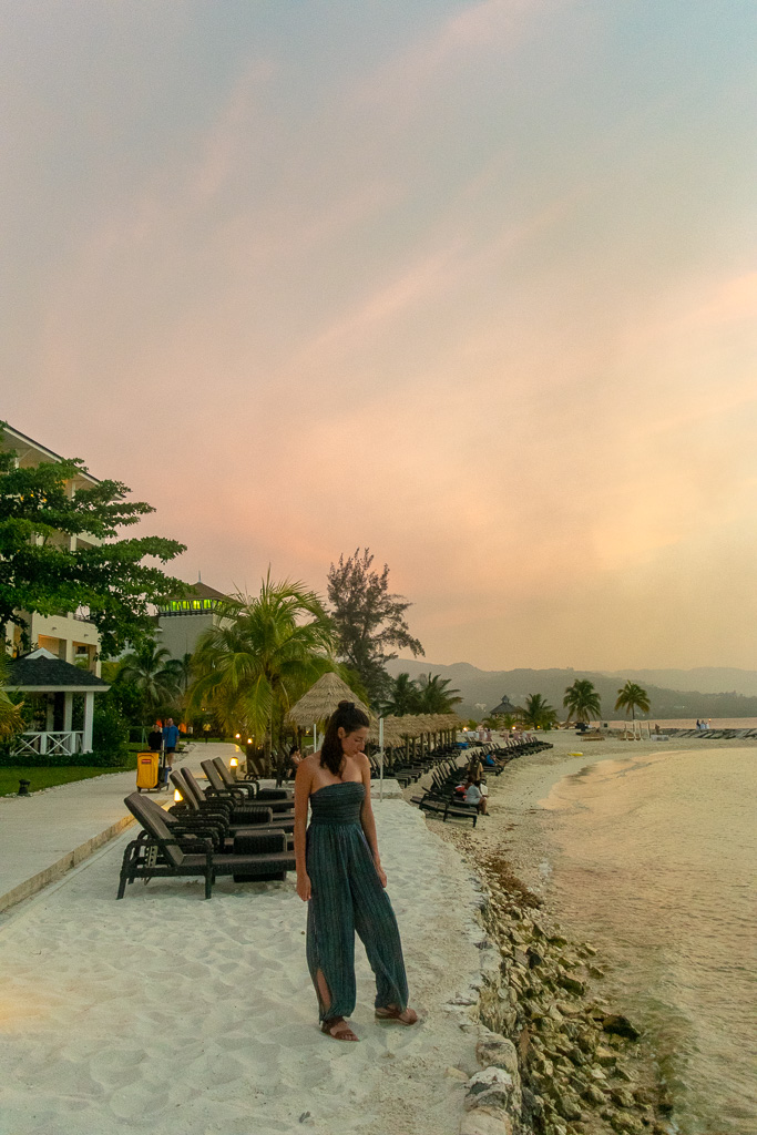 Sunsets at Secrets in Montego Bay