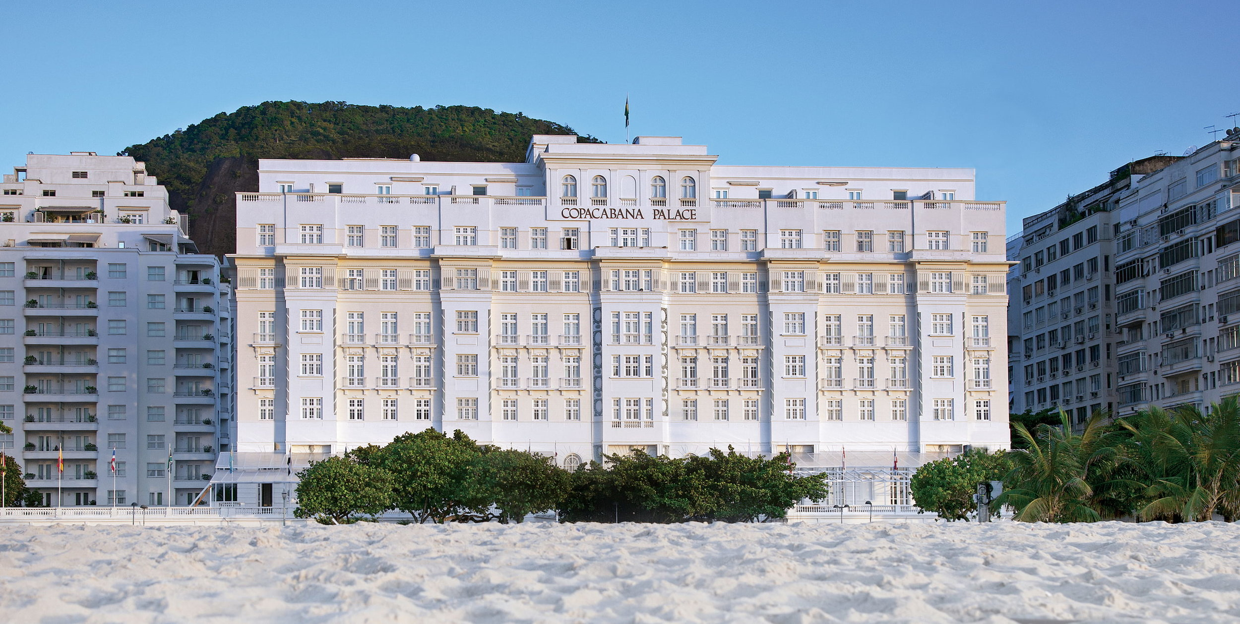 Copacabana Palace in Rio is definitely a must stop.