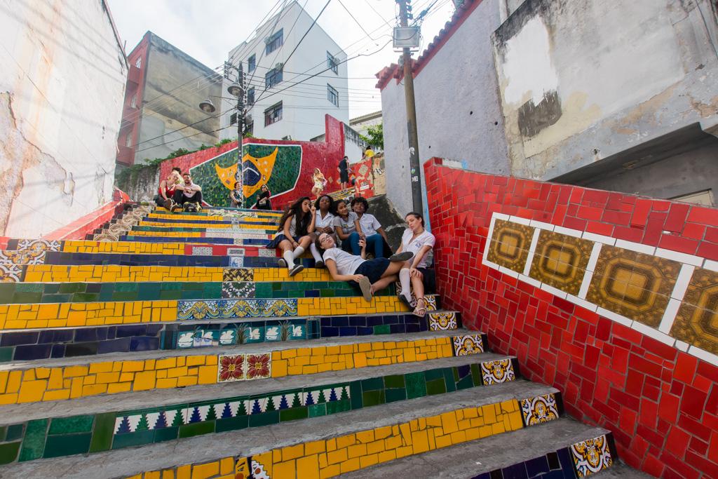 A famous staircase in Rio - don't miss Escadaria Selaro.