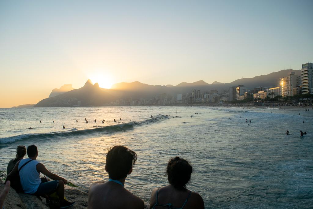 Sunset at Praia do Arpoador