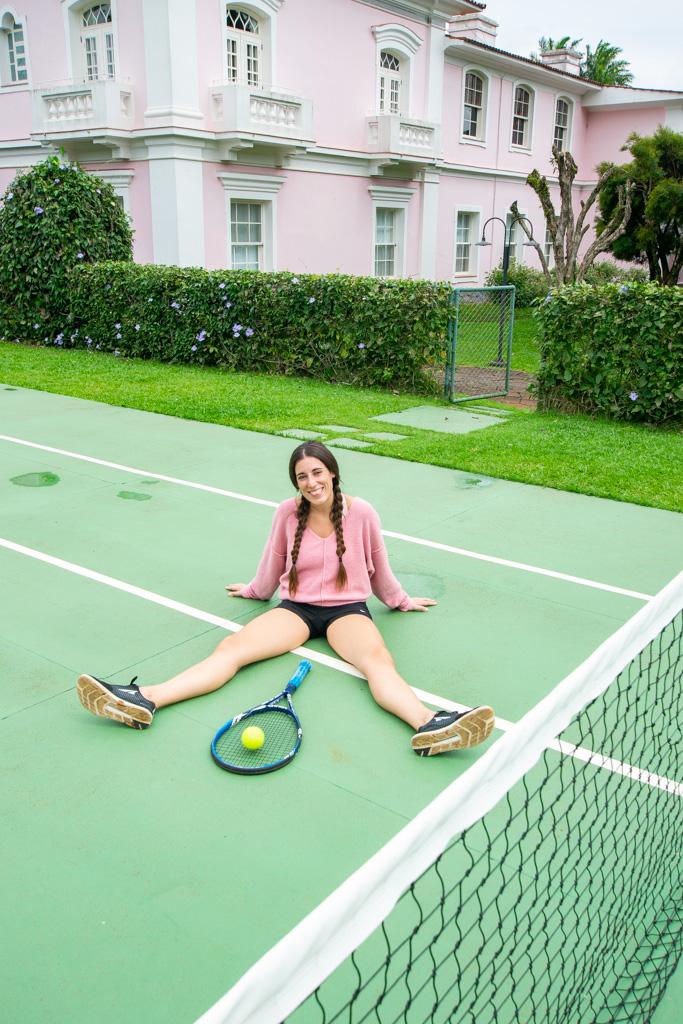 Playing tennis at Belmond Hotel das Cataratas