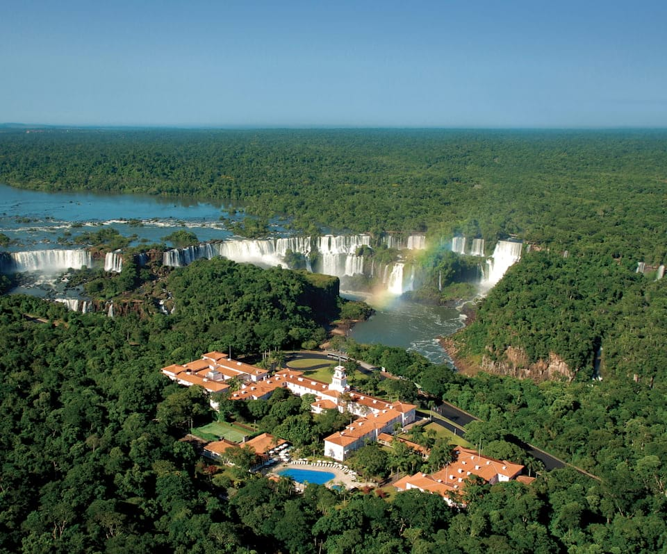 You literally can't get any closer than this when trying to stay near Iguazu Falls.   Source