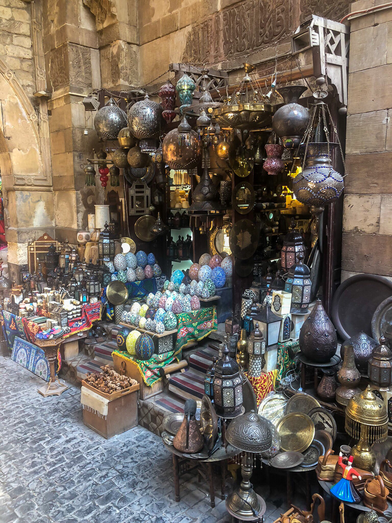 One of the best places to take pictures in Cairo is the Khan Al Khalili marketplace