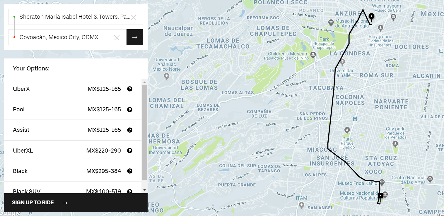 Uber in Mexico City is safe, cheap, and reliable.