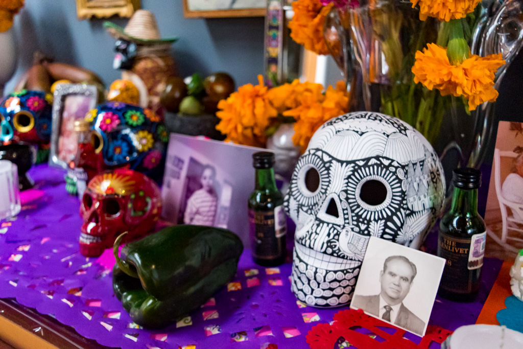 Close up of the Ofrenda