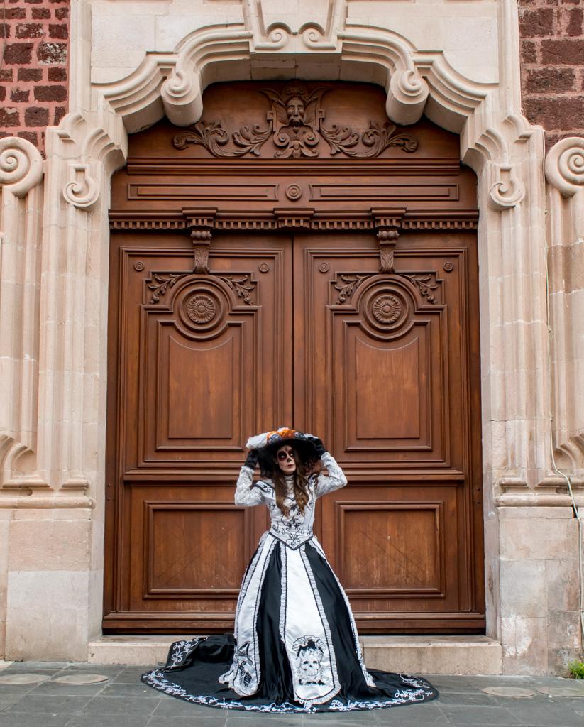 Dressed up as La Catrina during Dia de Mueros in Aguascalientes