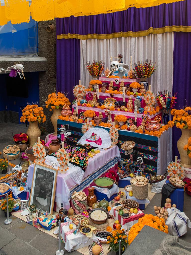 The ofrenda at the Frida Kahlo house